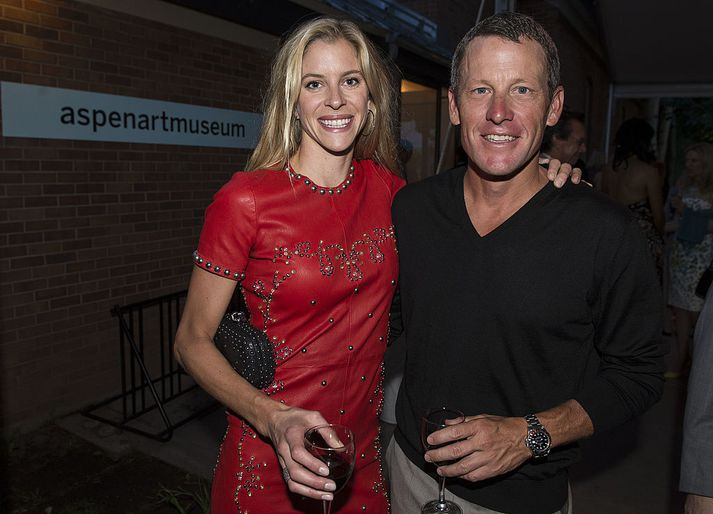 Anna Marie Hansen og Lance Armstrong.