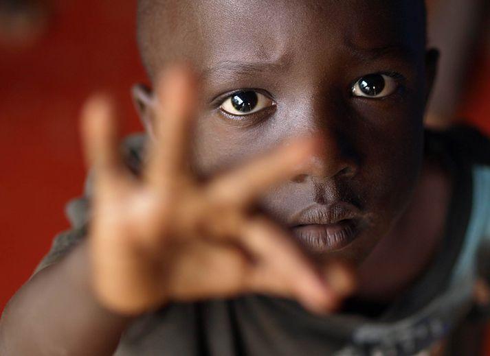 Barn í SOS barnaþorpi í Gulu, Úganda.