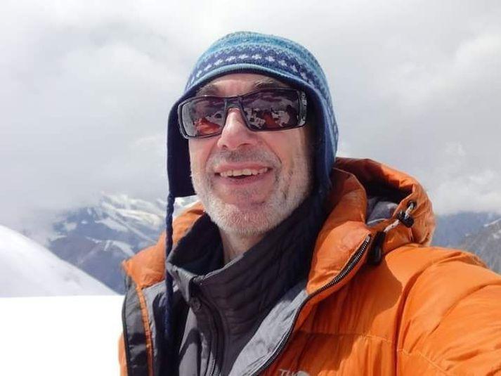 Alex Goldfarb fannst látinn eftir umfangsmikla leit í hlíðum Pastore Peak í gær.