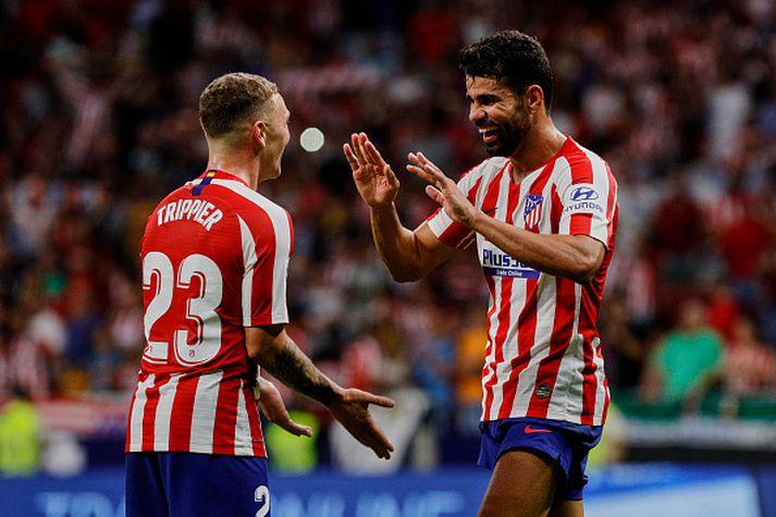 Costa og Trippier fagna marki.