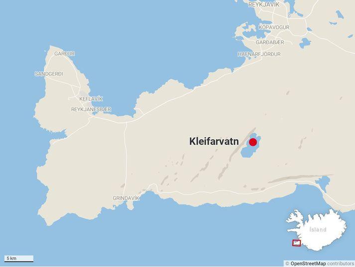 Skjálftarnir mældust við Kleifarvatn.
