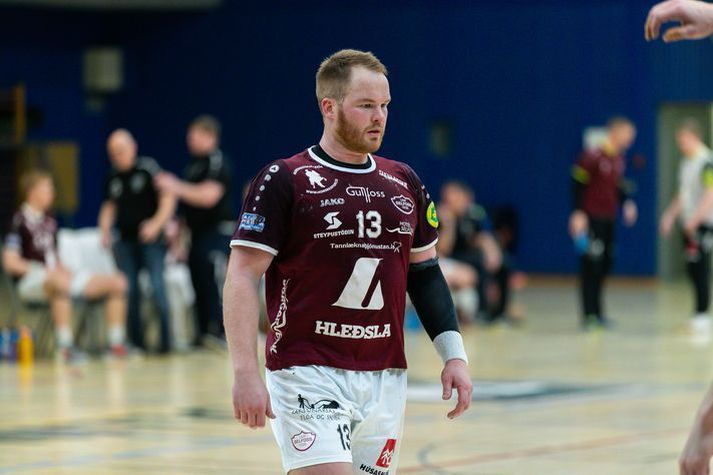 Atli Ævar Ingólfsson skoraði fjögur mörk fyrir Selfyssinga í dag.
