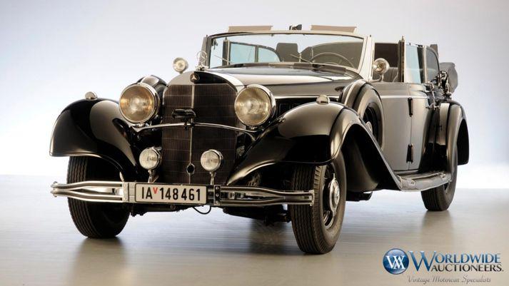Mercedes Benz 770k bíll Hitlers sem boðinn verður upp hjá Scottsdale uppboðshúsinu.
