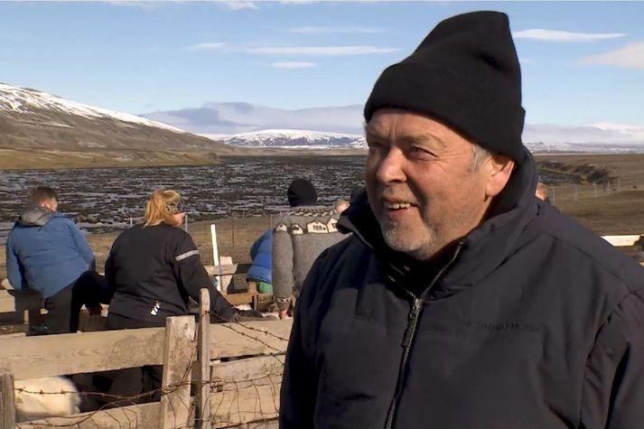 Kristinn Guðnason er fjallkóngur og réttarstjóri Land- og Holtamanna, oftast kenndur við Skarð þótt hann búi núna í Árbæjarhjáleigu.