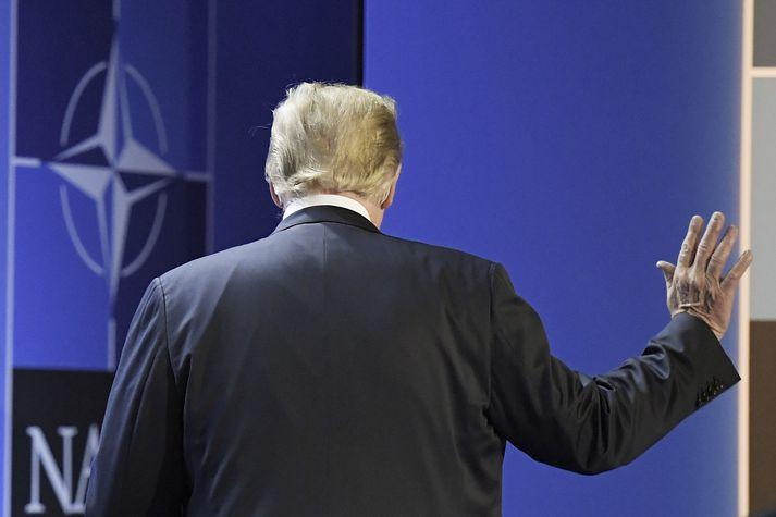 Embættismenn telja það eina af grundvallarskoðunum Trump forseta að vilja segja skilið við NATO.