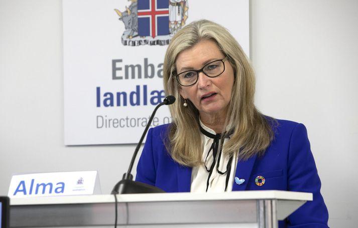 Alma Möller, landlæknir.