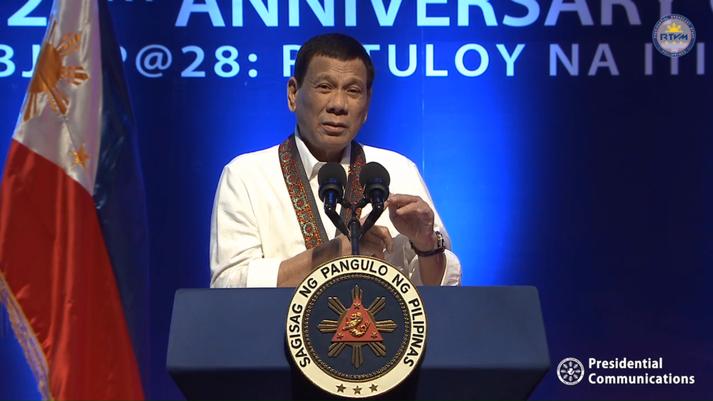 Duterte var frumlegur í gagnrýni sinni.