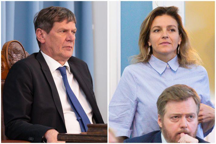 Brynjar Níelsson og Rósa Björk Brynjólfsdóttir eru miklir andstæðingar í pólitík.