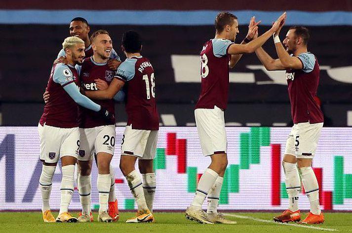 West Ham fagna sigurmarki Bowen sem skaut þeim í fimmta sætið.