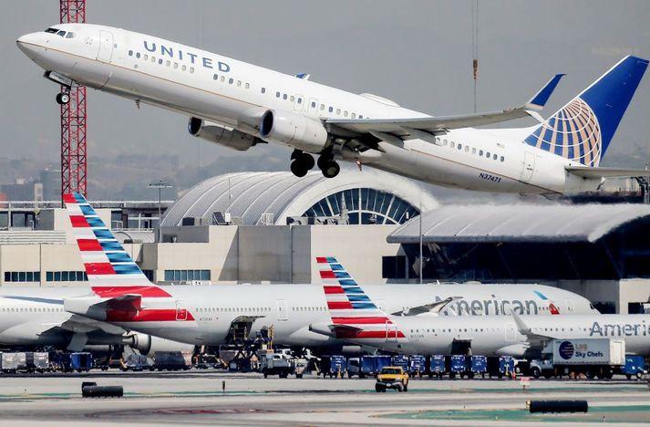 Flugvélum United Airlines mun fjölga mikið á næstunni.