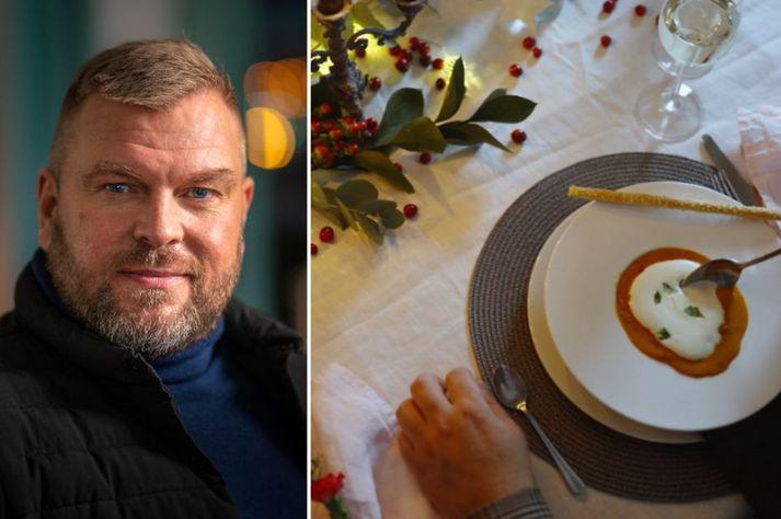Andrés Bertelsen er algjör sérfræðingur í humarsúpugerð.