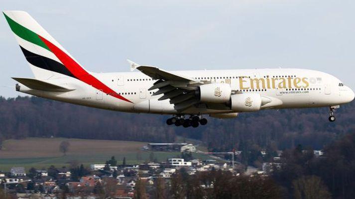 Gluggalausa farrýmið má finna í Boeing 777-300ER flugvélum Emirates.