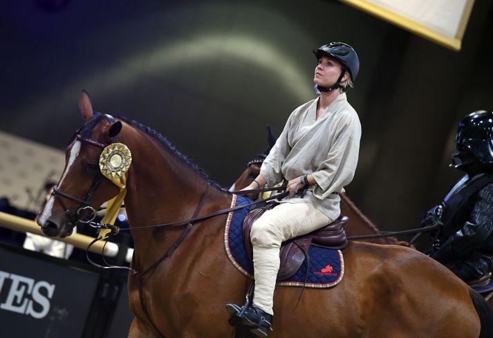 Kaley Cuoco er mikil hestakona.