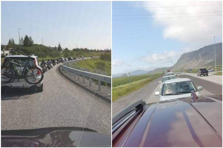 Umferðin er mjög þétt á milli Reykjavíkur og Selfoss.