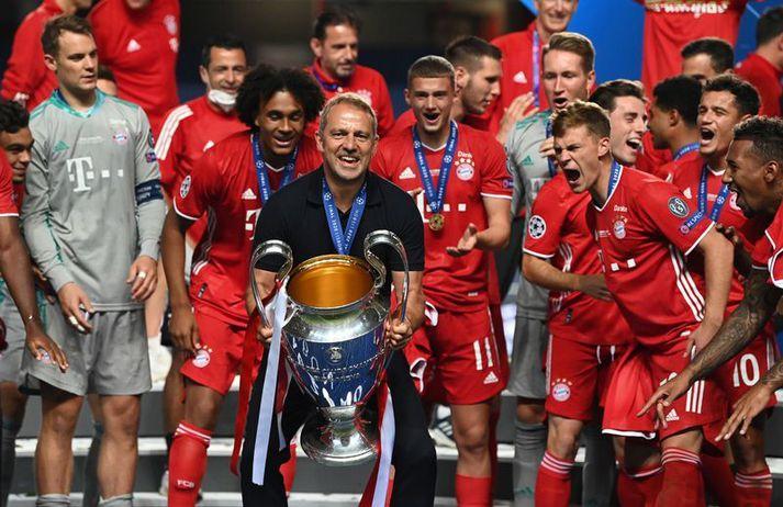 Flick vann Meistaradeildina með Bayern í sumar.