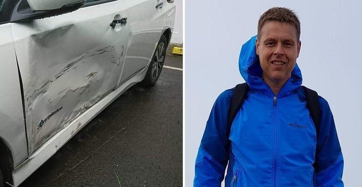 Eiríkur Björnsson situr uppi með Nissan Leaf bíl árgerð 2019 með ónýta rafhlöðu. Frásögn hans hefur vakið mikla athygli.