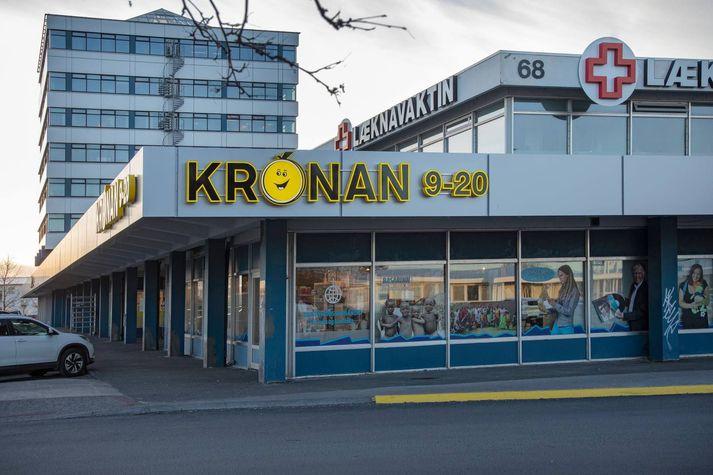 Krónan í Austurveri í Reykjavík.