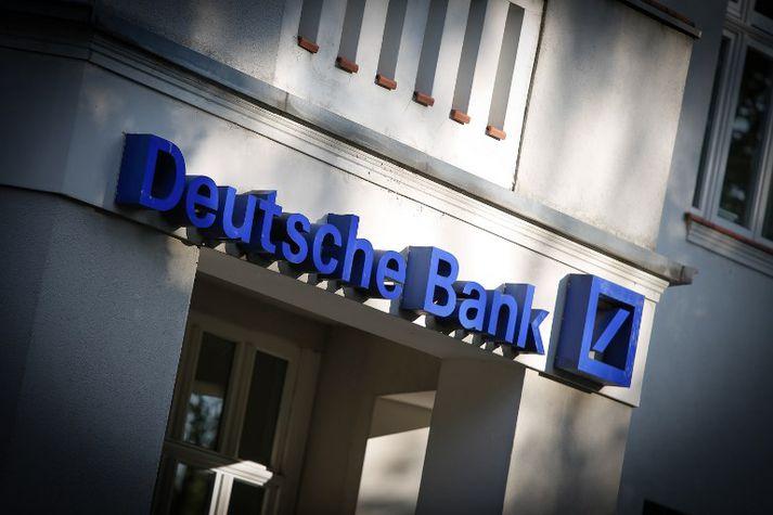 Þýski bankinn Deutsche Bank hefur lánað fyrirtækjum Trump milljónir dollara í gegnum tíðina.
