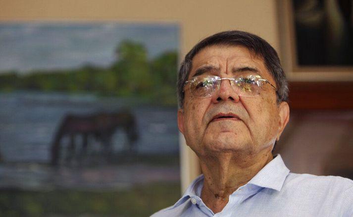 Sergio Ramírez, fyrrverandi forseti Níkaragva. Hann er staddur í Bandaríkjunum til að gangast undir læknismeðferð.