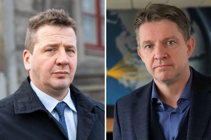 Guðlaugur Þór, utanríkisráðherra, og Bogi Nils, forstjóri Icelandair.