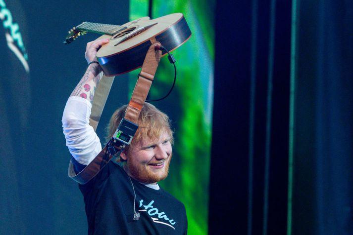 Ed Sheeran á tónleikum í Madríd í júní.