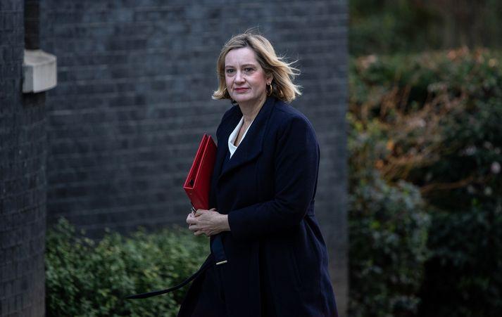 Amber Rudd er einn ráðherranna þriggja sem segjast tilbúnir að fara gegn Theresu May náist ekki samningar við Evrópusambandið.