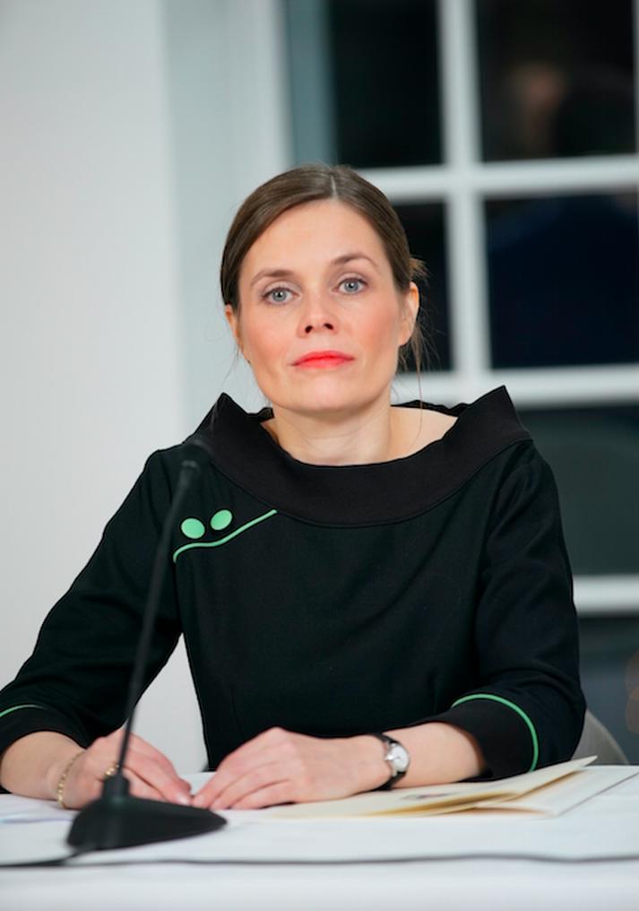 Katrín Jakobsdóttir er önnur konan til að gegna embætti forsætisráðherra á Íslandi.