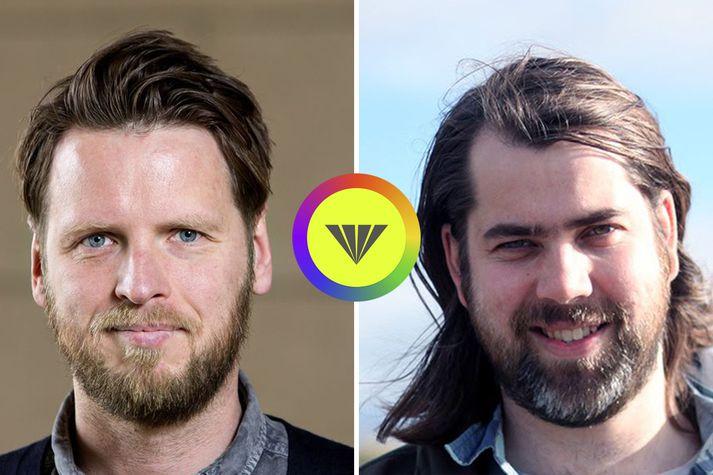 Guðmundur Hörður (t.v.) og Andri Sigurðsson (t.h.) virðast vera þeir sem standa að Facebook-síðu Jæja-hópsins. Hópurinn sendi frá sér yfirlýsingu í vikunni þar sem hann rökstuddi nauðsyn nafnleyndar.