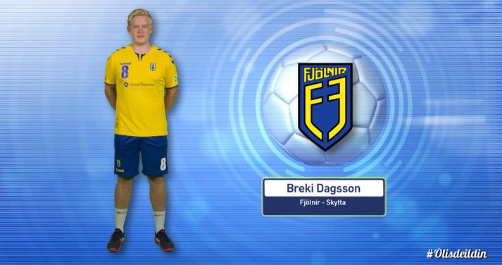 Breki Dagsson er besti leikmaður Fjölnis.