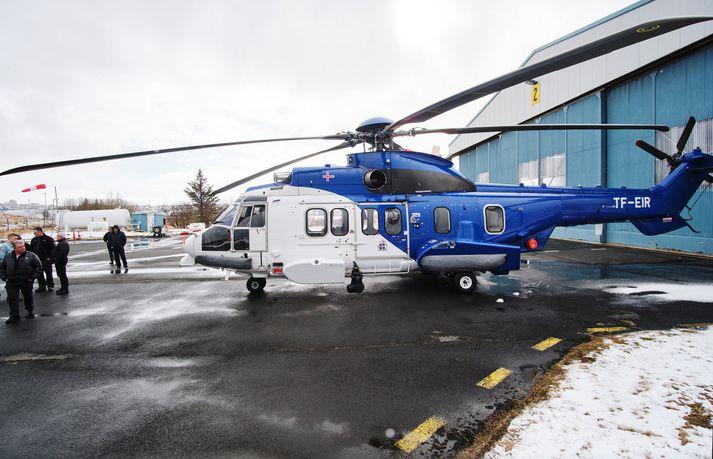 TF-EIR við skýli Landhelgisgæslu Íslands á Reykjavíkurflugvelli í gær.