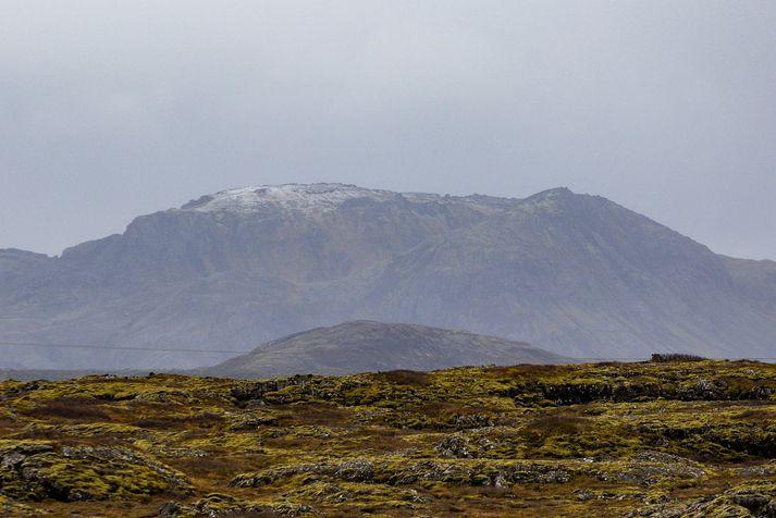 Hraun sem runnið hefur í sprungugosum á Reykjanesskaga þekur um fjórðung af flatarmáli skagans.