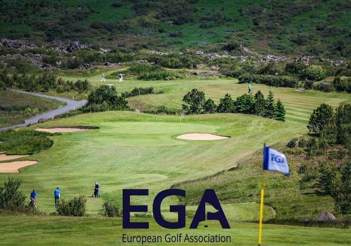 EM stúlkna í golfi fer fram á Urriðavelli í Heiðmörk.