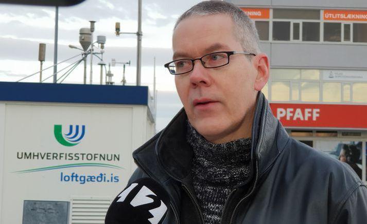 Þorsteinn Jóhannsson sérfræðingur í loftgæðum hjá Umhverfsisstofnun