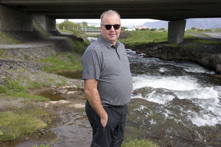 Halldór Páll Gíslason, formaður Hollvinasamtaka Elliðaárdalsins, vill engar stórframkvæmdir á svæðinu.