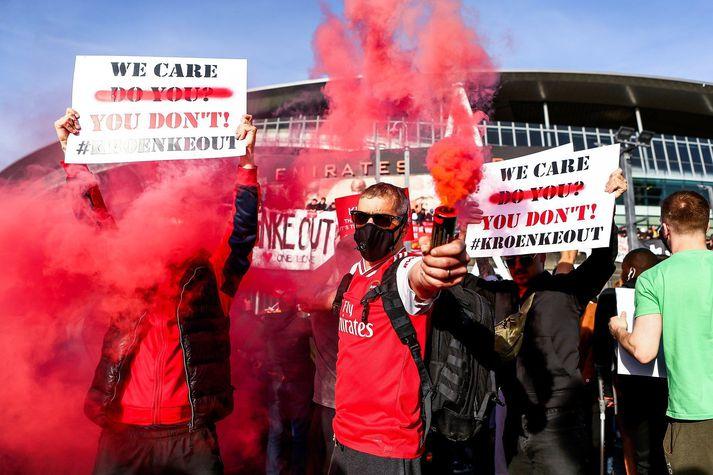 Stuðningsfólk Arsenal er ekki sátt.