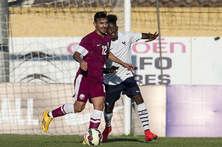 Jordan Diakiese í leik með franska U20-árs landsliðinu.