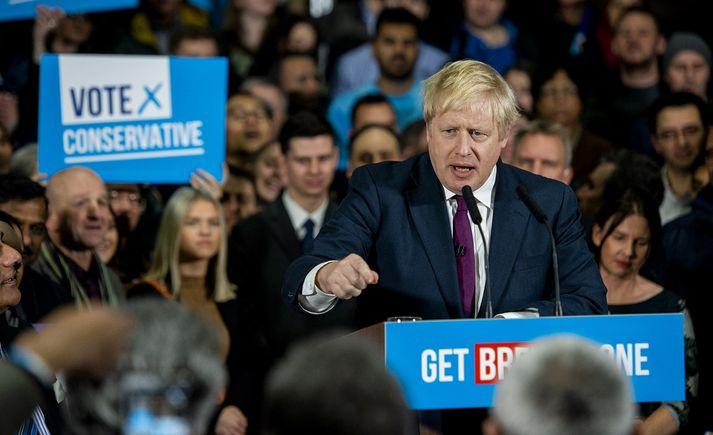 Boris Johnson, leiðtogi Íhaldsflokksins.