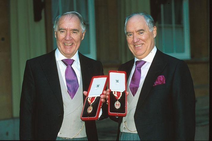 Tvíburarnir Sir Frederick Barclay og Sir David Barclay. Saman byggðu þeir upp mikið viðskiptaveldi.