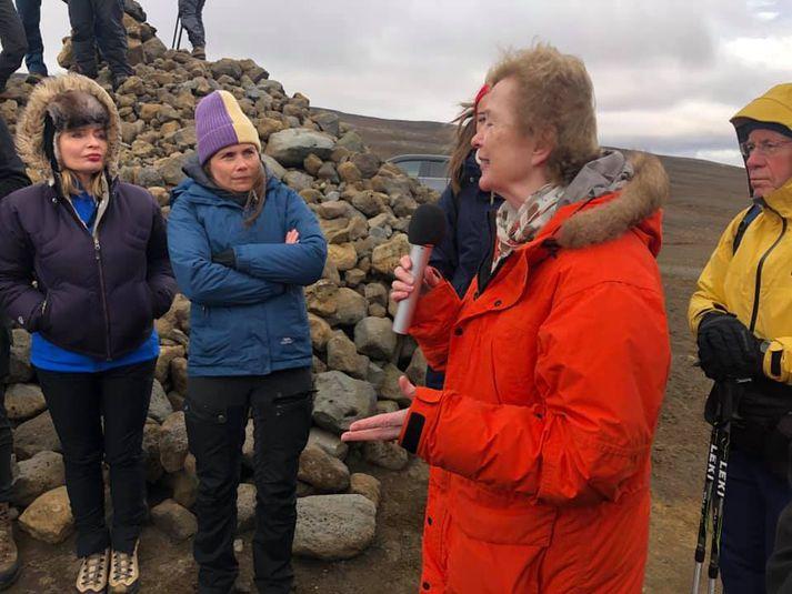 Katrín Jakobsdóttir, forsætisráðherra, og Mary Robinson, fyrrverandi forseti Írlands.