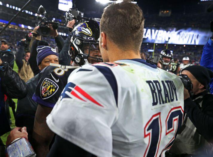 Brady og Lamar fyrr í vetur.
