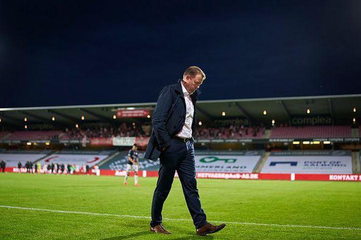 Jacob Nielsen er framkvæmdastjóri AGF. Hann var ansi pirraður eftir stórleikinn gegn FCK á sunnudag.