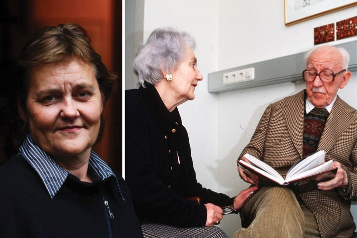 Guðný Halldórsdóttir, Auður Laxness og Halldór Kiljan Laxness.
