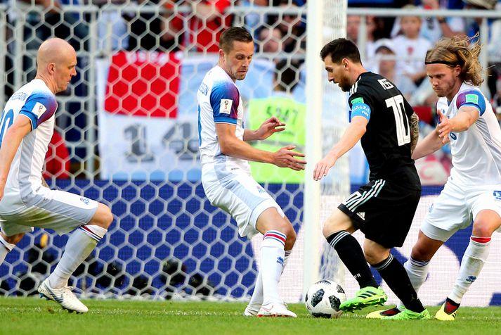 Einn af síðustu landsleikjum Lionel Messi var möguleika á móti Íslandi.