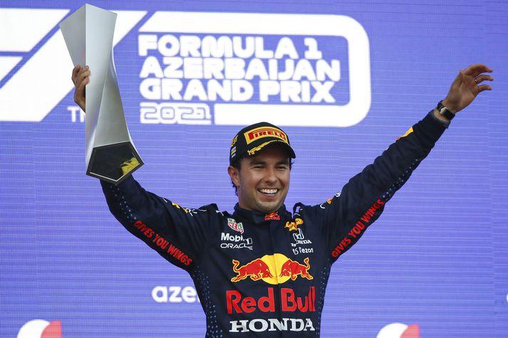 Sergio Perez, sigurvegari dagsins.