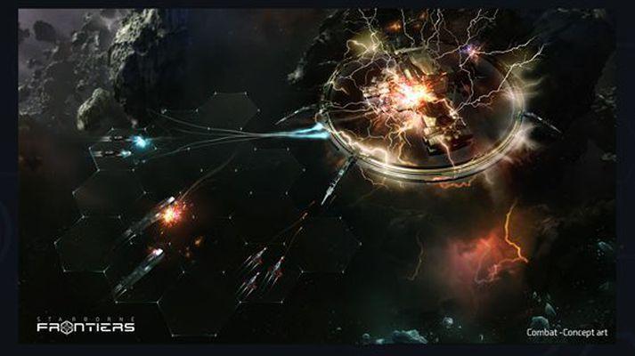 Leikurinn Starborne: Frontiers gerist í geimnum eins og nafnið bendir til.