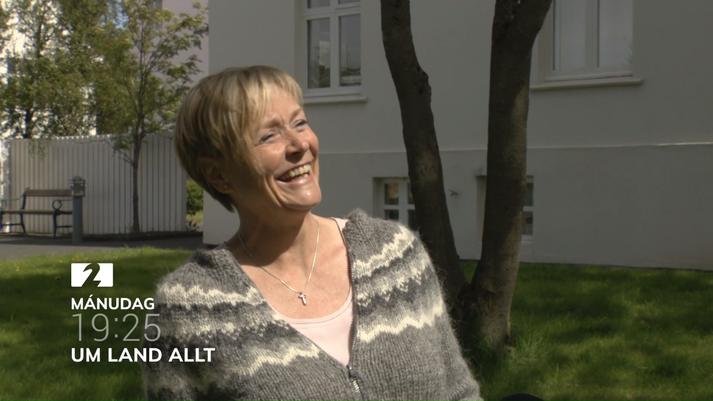 Sigrún Ragna Helgadóttir ólst upp í stöðvarstjórahúsinu við rafstöðina.