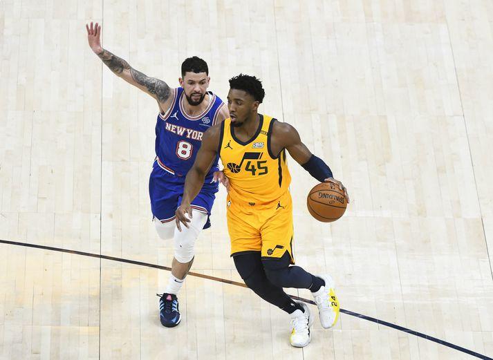 Donovan Mitchell og félagar í Utah Jazz hafa unnið níu leiki í röð í NBA-deildinni.