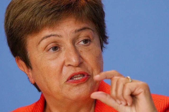 Búlgarinn Kristalina Georgieva hefur verið framkvæmdastjóri Alþjóðagjaldeyrissjóðsins frá því í október árið 2019. Á undan var hún forstjóri Alþjóðabankans.