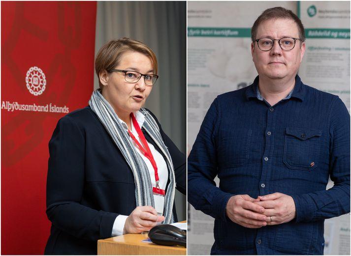 Drífa Snædal, forseti ASÍ, og Breki Karlsson, formaður Neytendasamtakanna.