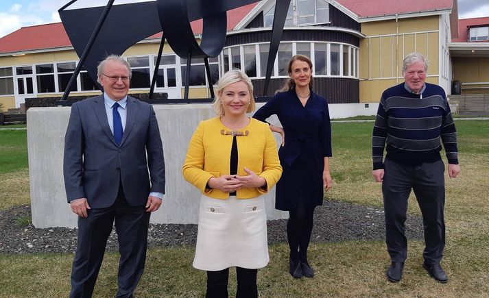Vilhjálmur Egilsson, Margrét Jónsdóttir Njarðvík, Lilja Alfreðsdóttir mennta- og menningarmálaráðherra og Reynir Ingibjartsson.
